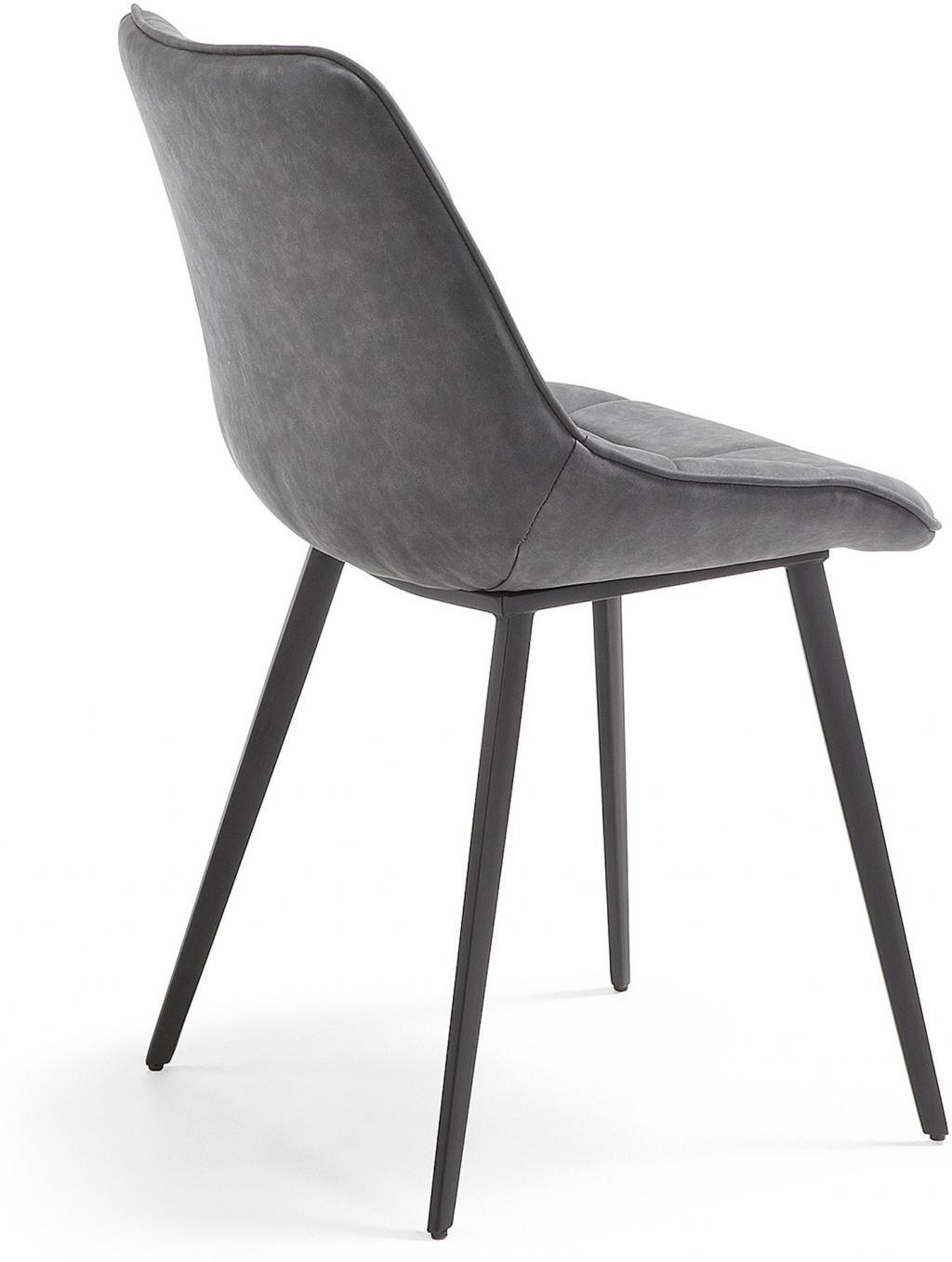 Bezaubernd Stuhl Leder Grau Galerie Von Alle Fotos